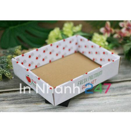 Khay hoa quả bồi carton
