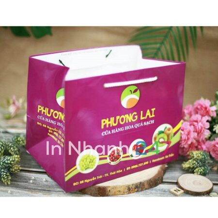 Túi giấy hoa quả Phương Lai