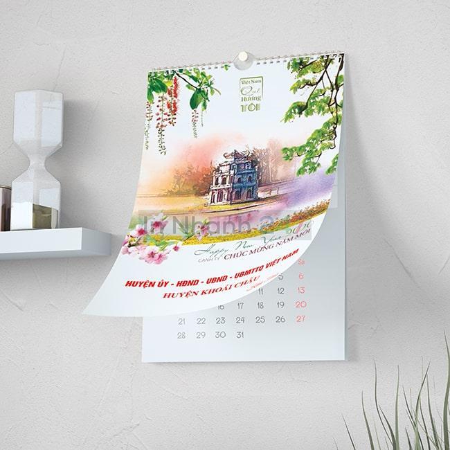 Bộ mẫu lịch treo tường chào xuân