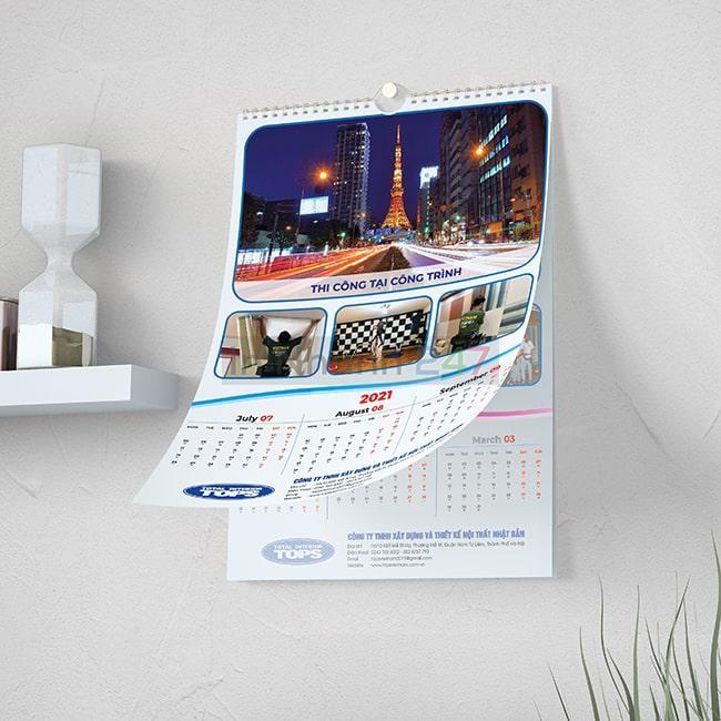 Bộ mẫu lịch treo tường doanh nghiệp