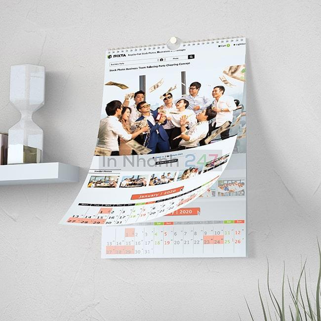 Bộ mẫu lịch treo tường quảng bá hình ảnh