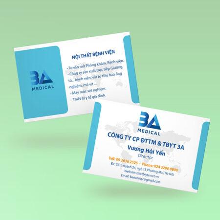 Card visit 3A Medical