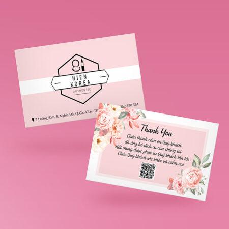 Card visit dạng thiếp cảm ơn