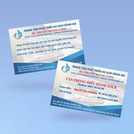 Card visit du lịch sông mã