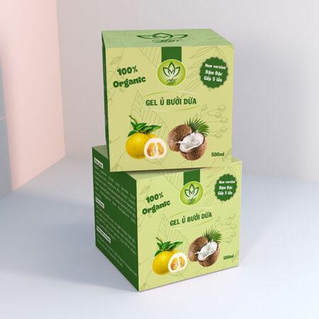 Hộp giấy gel ủ bưởi dừa