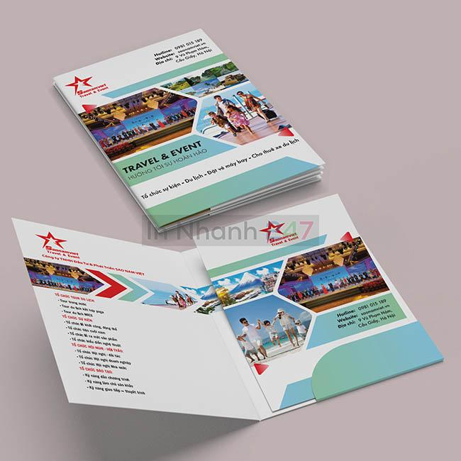 Mẫu folder trung tâm tổ chức sự kiện