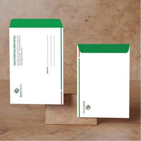 Mẫu phong bì A4 Green Media