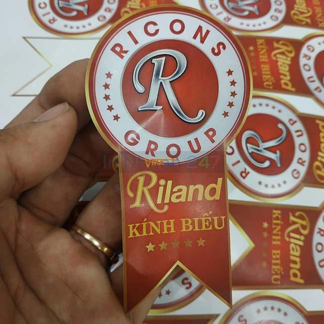 Sticker decal nhựa Ricons