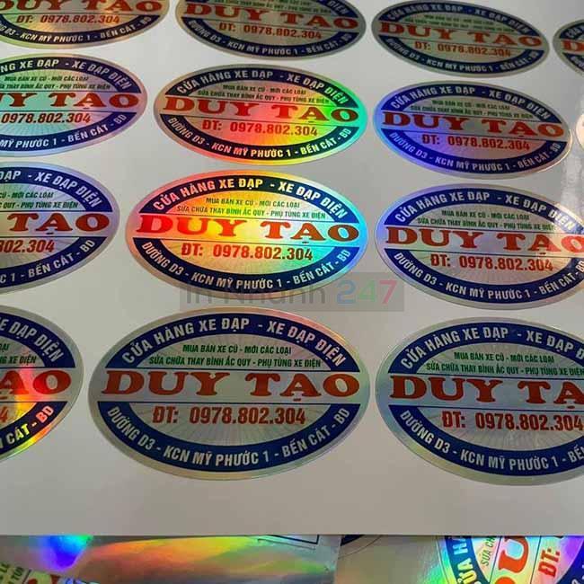 Sticker elip bảy màu xe đạp Duy Tạo