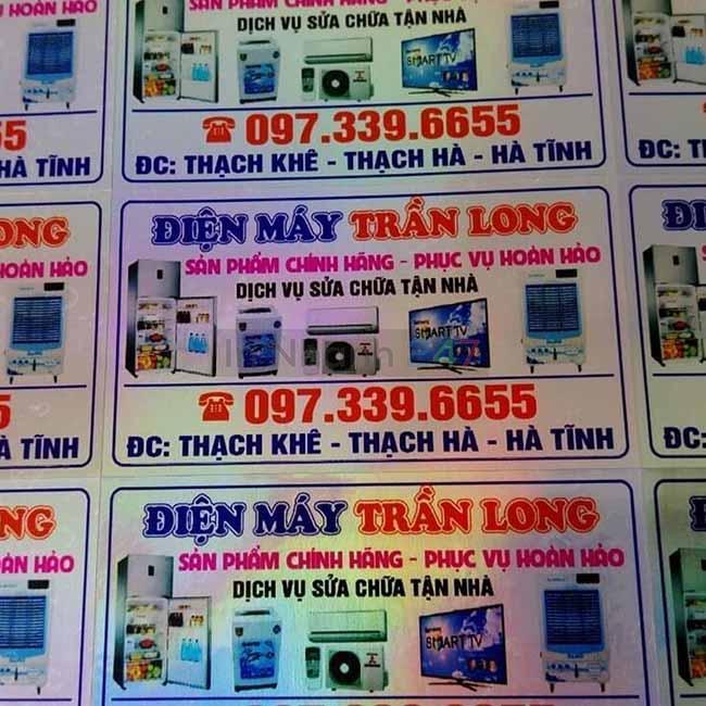 Tem bảy màu điện máy Trần Long
