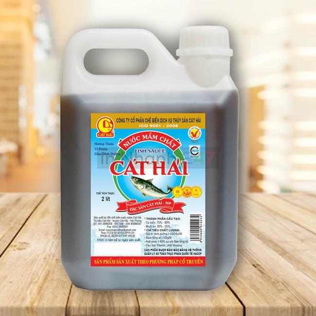 Tem decal giấy chai nhựa nước mắm Cát Hải