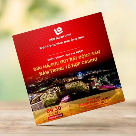 Thiệp mời sự kiện bất động sản