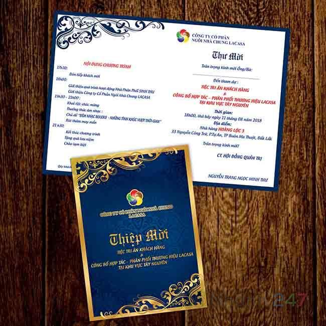 Thiệp mời tiệc tri ân khách hàng