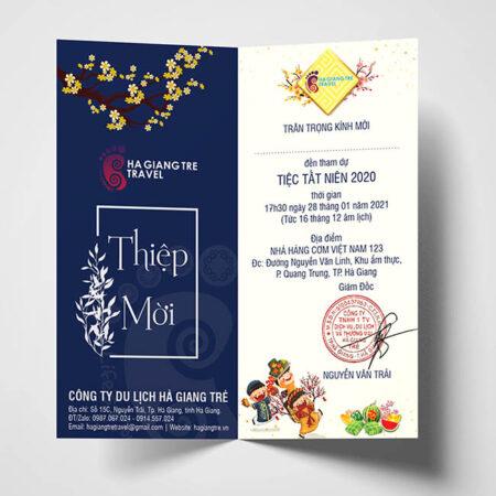 Thiệp mời tới dự tiệc tất niên