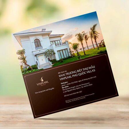 Thư mời khai trương biệt thự Vinpearl Phú Quốc