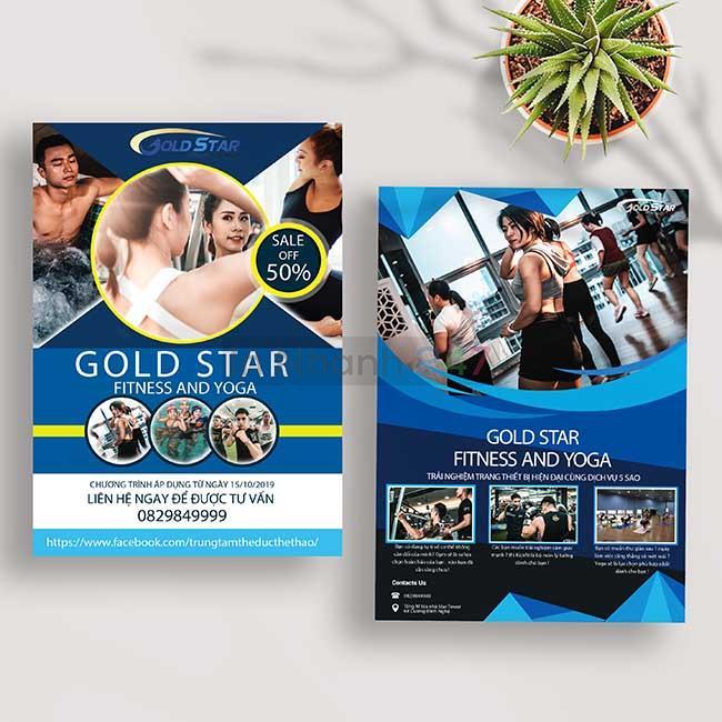 Tờ rơi Fitness Yoga Gold Star