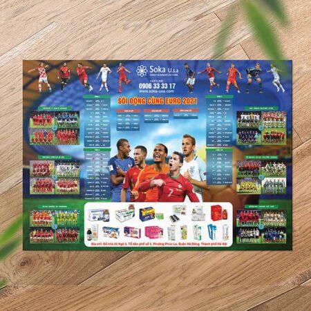 Tờ rơi lịch bóng đá Euro
