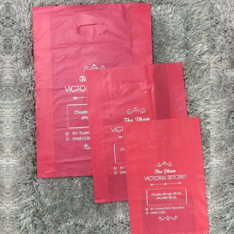 Túi nilon HD hồng mịn Thu Phạm