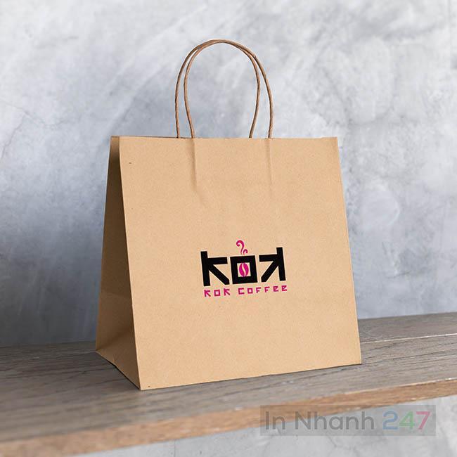 Túi giấy Kraft Kok Coffee