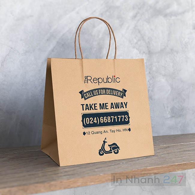 Túi giấy Kraft đồ uống Republic