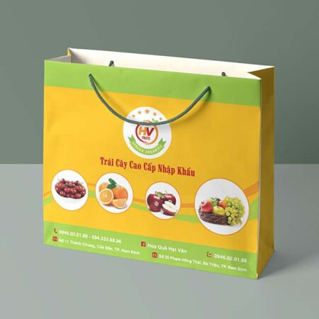 Túi giấy hoa quả trái cây