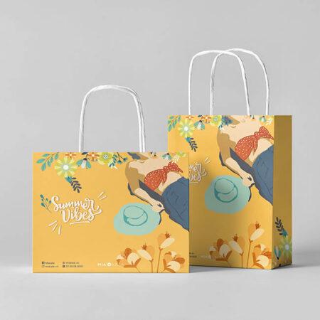 Túi giấy thời trang hè