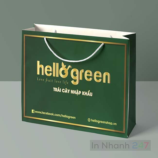 Túi giấy trái cây Hello Green
