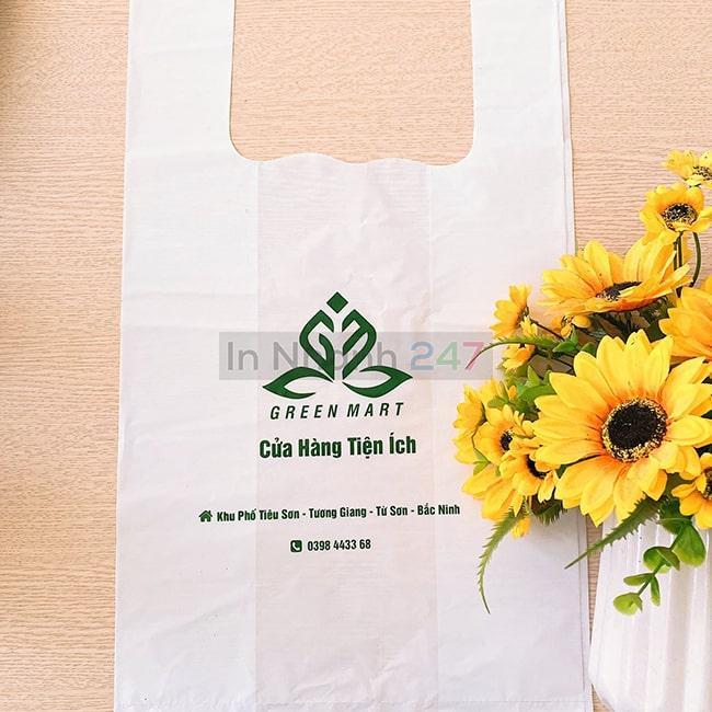 Túi nilon HD mịn siêu thị Green Mart