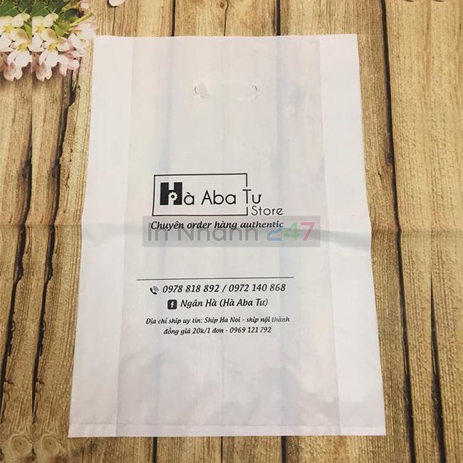 Túi nilon HD trắng mịn Hà Aba Tư