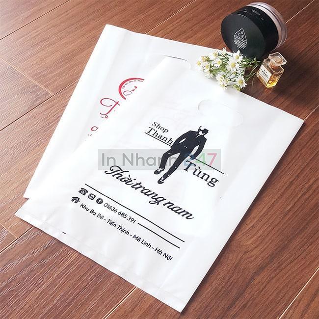 Túi nilon PE trắng sứ thời trang nam Thanh Tùng