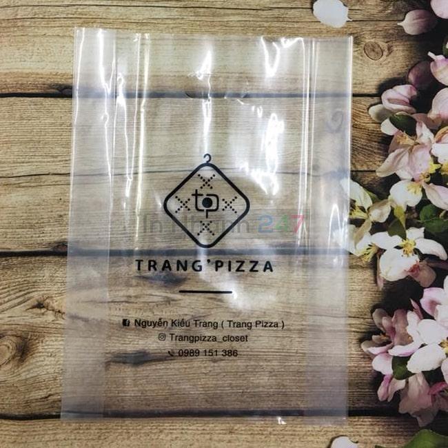 Túi nilon PE trong Trang Pizza